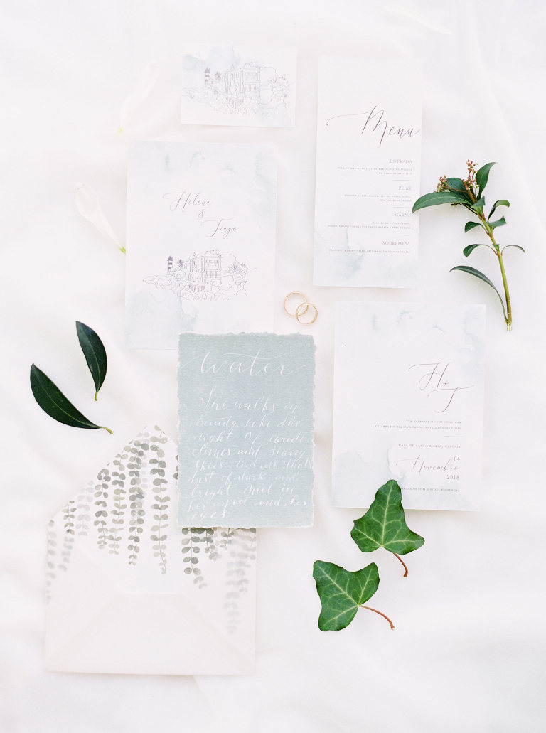 wedding calligraphy flatly photography