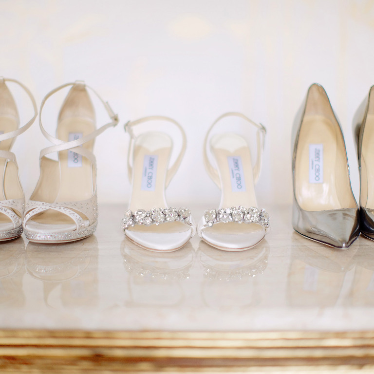 jimmy choo shoos at chateau Mcely
