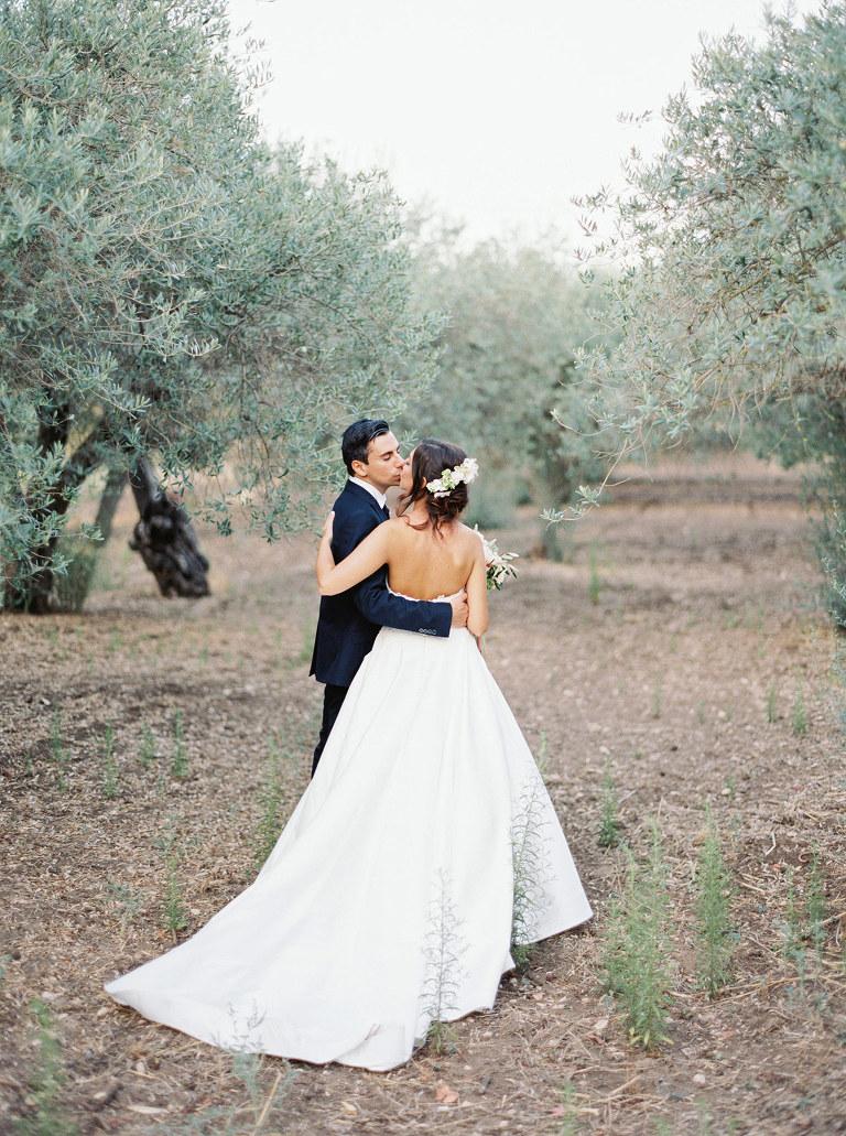 Sicilian wedding under olive trees