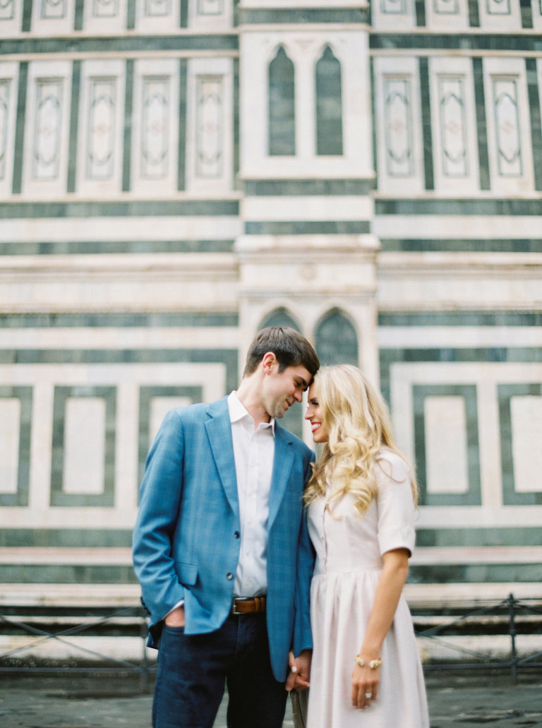 Anniversary photo in Florence, Italy